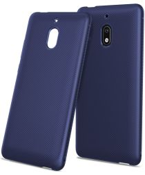 Nokia 2.1 Carbon TPU Hoesje Blauw