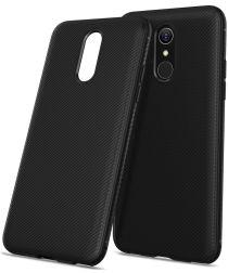 LG Q7 Carbon TPU Hoesje Zwart
