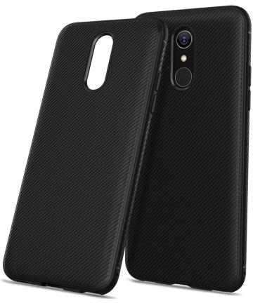 LG Q7 Carbon TPU Hoesje Zwart Hoesjes