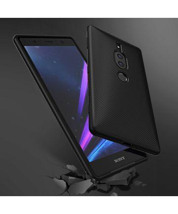 Sony Xperia XZ2 Premium Carbon TPU Hoesje Zwart