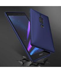 Sony Xperia XZ2 Premium Carbon TPU Hoesje Blauw