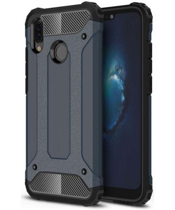 Huawei P20 lite Hybride Hoesje Blauw Hoesjes