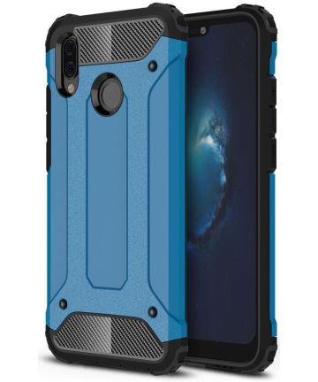 Huawei P20 lite Hybride Hoesje Licht Blauw Hoesjes