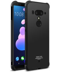 HTC U12+ TPU Hoesje met Display Folie Metaal Zwart