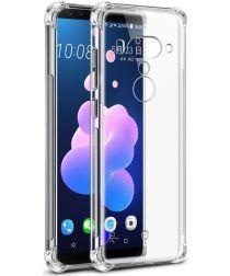 HTC U12+ TPU Hoesje met Display Folie Transparant
