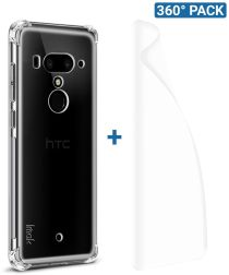 IMAK HTC U12+ Hoesje Flexibel TPU met Screenprotector Transparant