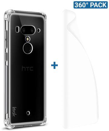IMAK HTC U12+ Hoesje Flexibel TPU met Screenprotector Transparant Hoesjes