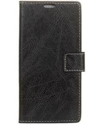Huawei Y5 (2018) Vintage Portemonnee Hoesje Zwart