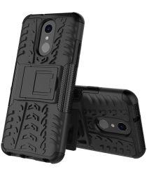 Robuust Hybride LG Q7 Hoesje Zwart