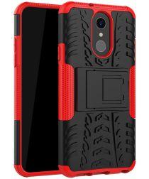 Robuust Hybride LG Q7 Hoesje Rood