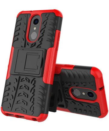 Robuust Hybride LG Q7 Hoesje Rood Hoesjes