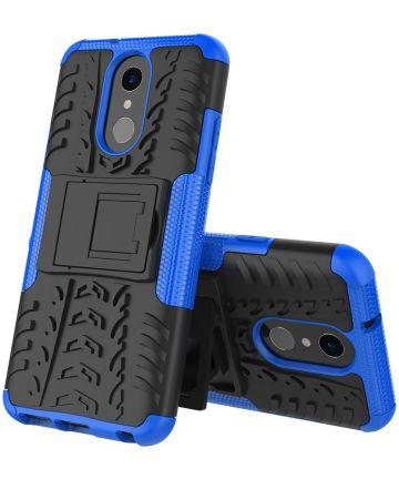 Robuust Hybride LG Q7 Hoesje Blauw