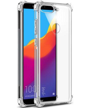 Huawei Y7 (2018) TPU Hoesje + Screen Protector Transparant