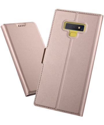 Samsung Galaxy Note 9 Hoesje met Kaarthouder Roze Goud