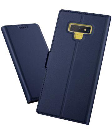 Samsung Galaxy Note 9 Hoesje met Kaarthouder Blauw