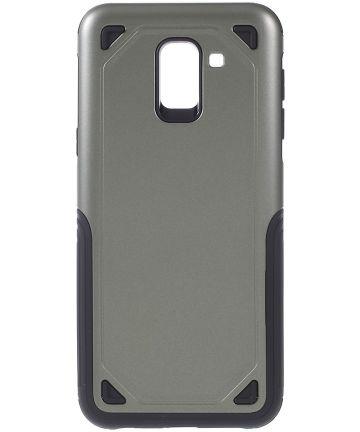 Samsung Galaxy J6 (2018) Robuust Hybride Hoesje Groen