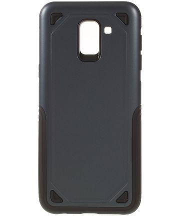 Samsung Galaxy J6 (2018) Robuust Hybride Hoesje Blauw