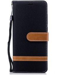 Nokia 5.1 Jeans Portemonnee hoesje Zwart