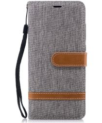 Nokia 5.1 Jeans Portemonnee hoesje Grijs