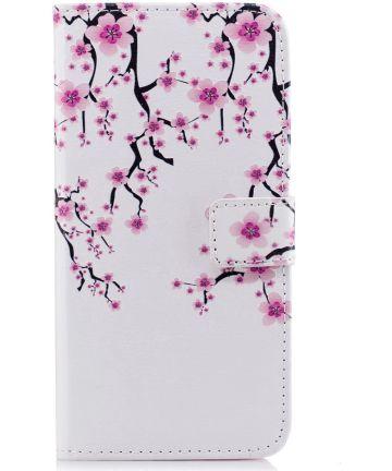 Huawei P Smart Portemonnee Hoesje met Blossom Print Hoesjes