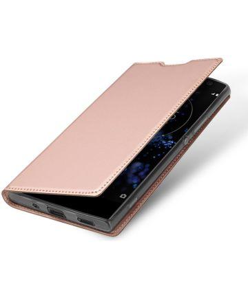 Dux Ducis Sony Xperia XA2 Plus Premium Bookcase Hoesje Roze Goud