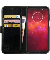 Rosso Element Motorola Moto Z3 Play Hoesje Book Cover Zwart