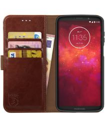 Rosso Element Motorola Moto Z3 Play Hoesje Book Cover Bruin