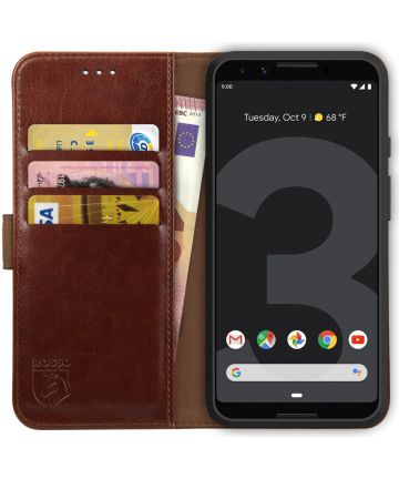 Rosso Element Google Pixel 3 Hoesje Book Cover Bruin
