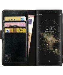 Rosso Element Sony Xperia XA2 Plus Hoesje Book Cover Zwart