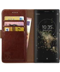 Rosso Element Sony Xperia XA2 Plus Hoesje Book Cover Bruin