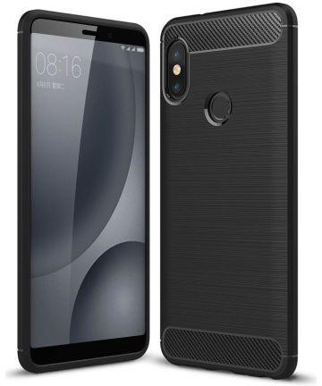 Xiaomi Redmi Note 5 Geborsteld TPU Hoesje Zwart