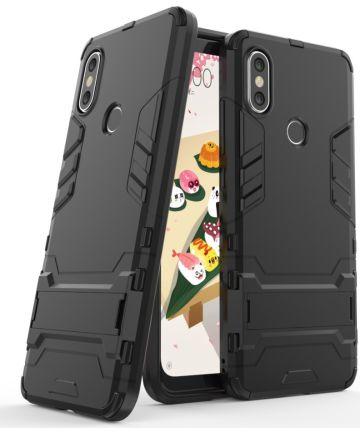 Xiaomi Mi A2 Hybride Hoesje met Standaard Zwart Hoesjes