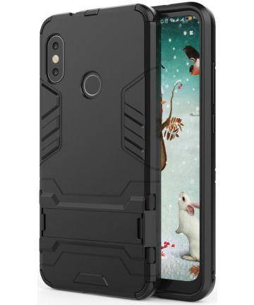 Xiaomi Mi A2 Lite Hybride Hoesje met Standaard Zwart Hoesjes