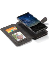 Samsung Galaxy Note 9 Leren 2-in-1 Portemonnee Hoesje Zwart
