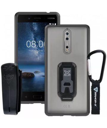 Armor X BX-Series Nokia 8 Robuust Hoesje Transparant Zwart