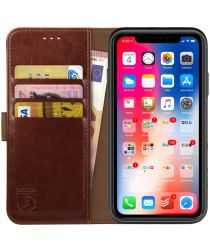Rosso Element Apple iPhone XR Hoesje Book Cover Bruin