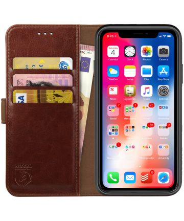 Rosso Element Apple iPhone XR Hoesje Book Cover Bruin Hoesjes
