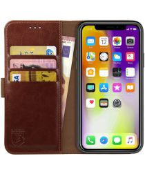 Rosso Element Apple iPhone XS Max Hoesje Book Cover Bruin