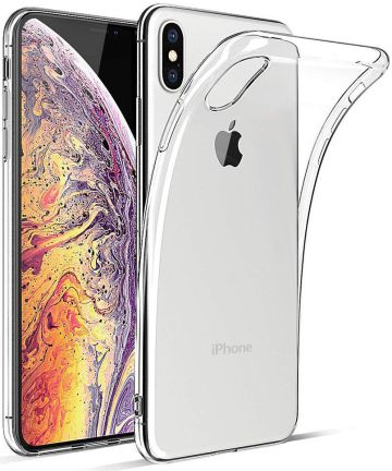 Apple iPhone XS Max Hoesje Dun TPU Transparant Hoesjes
