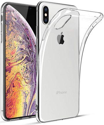 Apple iPhone XS Max Hoesje Dun TPU Transparant