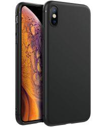 Apple iPhone XS Max Ultra Dun TPU Hoesje Zwart