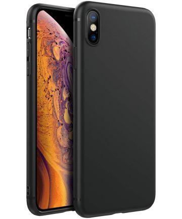 Apple iPhone XS Max Ultra Dun TPU Hoesje Zwart Hoesjes