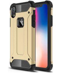 Apple IPhone XR Hoesje Shock Proof Hybride Back Cover Goud