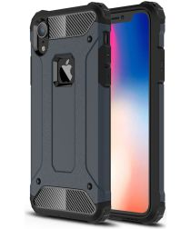 Apple IPhone XR Hoesje Shock Proof Hybride Back Cover Blauw