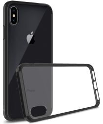 Apple iPhone XS Max Hoesje Armor Back Cover Transparant Zwart