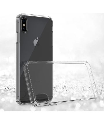 Apple iPhone XS Max Hoesje Armor Back Cover Transparant