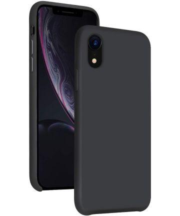 Apple iPhone XR Siliconen Hoesje Zwart