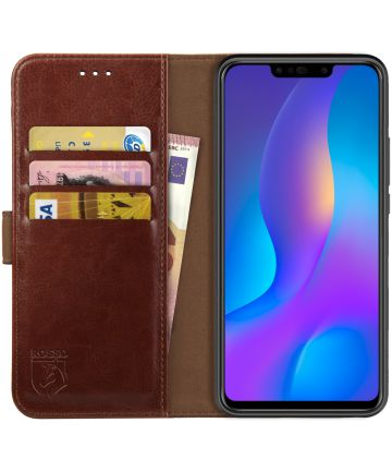 Rosso Element Huawei P Smart Plus Hoesje Book Cover Bruin