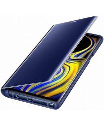Samsung Galaxy Note 9 Clear View Flip Case Blauw
