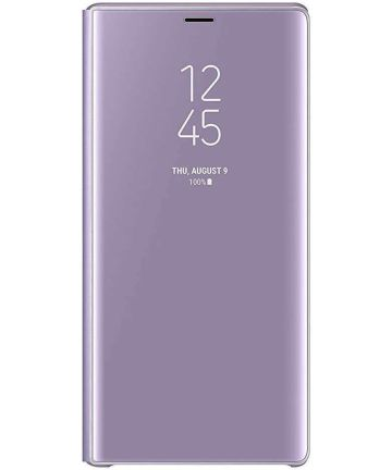 Samsung Galaxy Note 9 Clear View Flip Case Paars Hoesjes